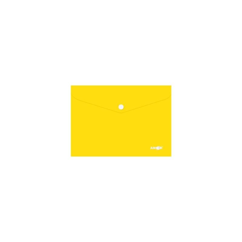 Obal s patentkou PP/A5, žltý