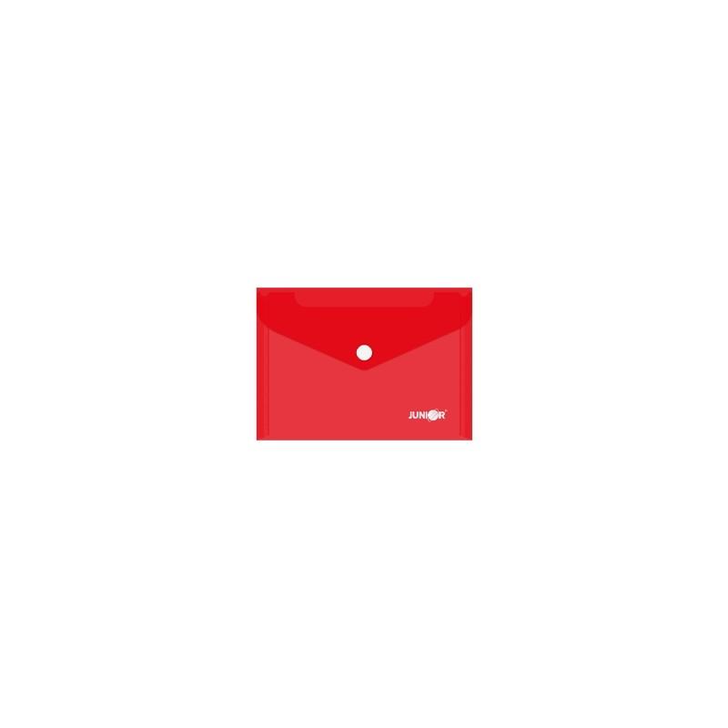 Obal s patentkou PP/A6, priehľadný/červený