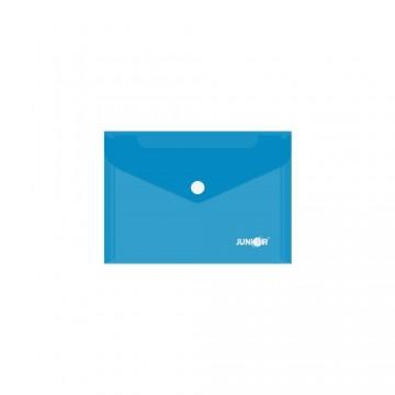 Obal s patentkou PP/A6, priehľadný/modrý