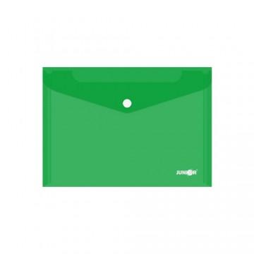 Obal s patentkou PP/A5, priehľadný/zelený