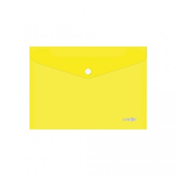 Obal s patentkou PP/A5, priehľadný/žltý