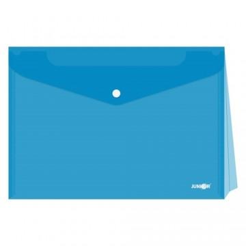 Obal s patentkou - rozšíriteľný PP/A4, priehľadný/modrý