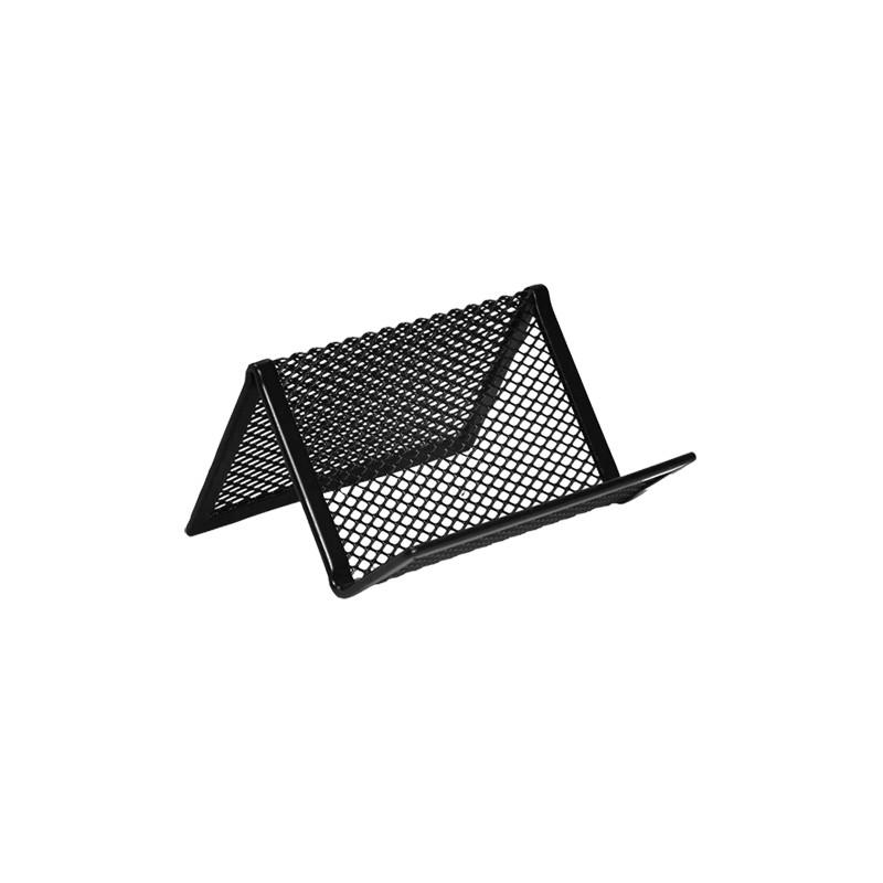 Drôtený stojan na vizitky, čierny
