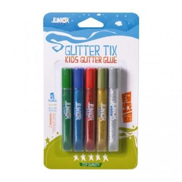 Lepidlo Glitter mix farieb, sada 5ks