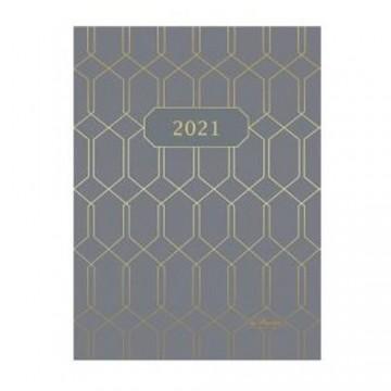 Diár 2021 týždenný A5 Geometric - sivý