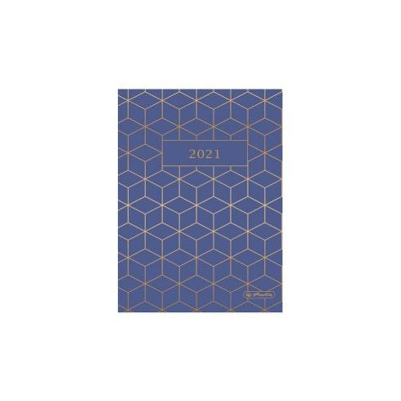 Diár 2021 týždenný A5 Geometric - modrý