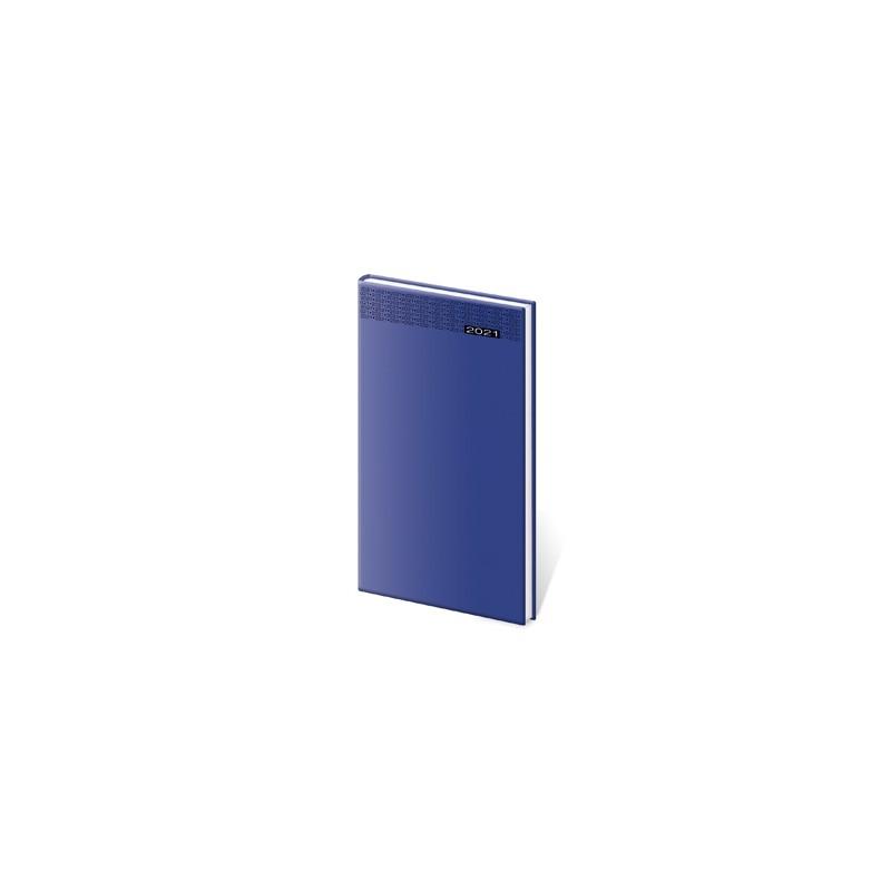 Diár 2021 týždenný vreckový Gommato - modrý