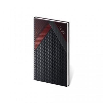Diár 2021 týždenný vreckový Vario - Black Design