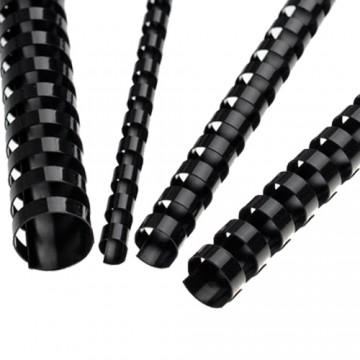 Hrebene plastové 8 mm čierne