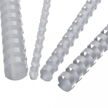 Hrebene plastové 19 mm biele