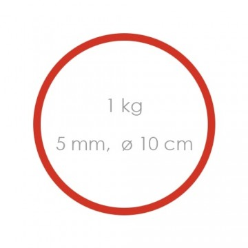 Gumičky červené silné (5 mm, O 10 cm) [1 kg]