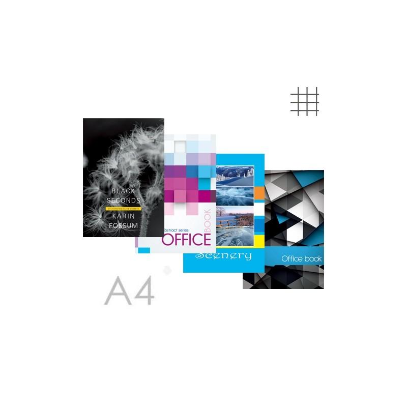 Kniha záznamová A4, štvorčeková - 96 listová