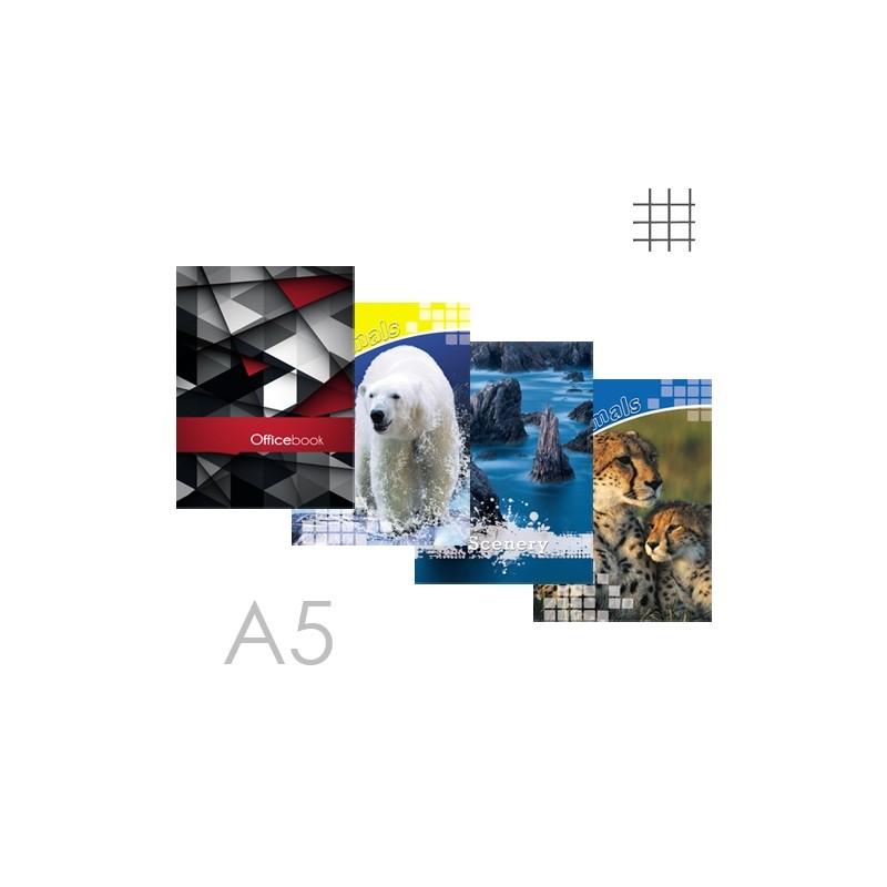 Kniha záznamová A5, štvorčeková - 96 listová