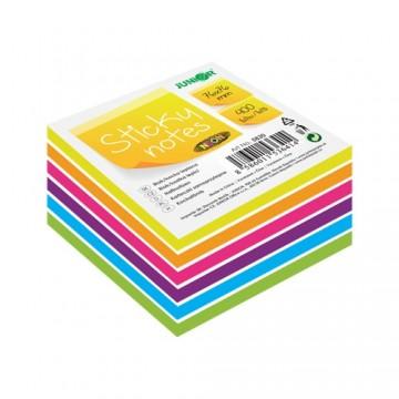 Blok/kocka samolepiaca Sticky Notes - Neon/White 76x76 mm/400 l.