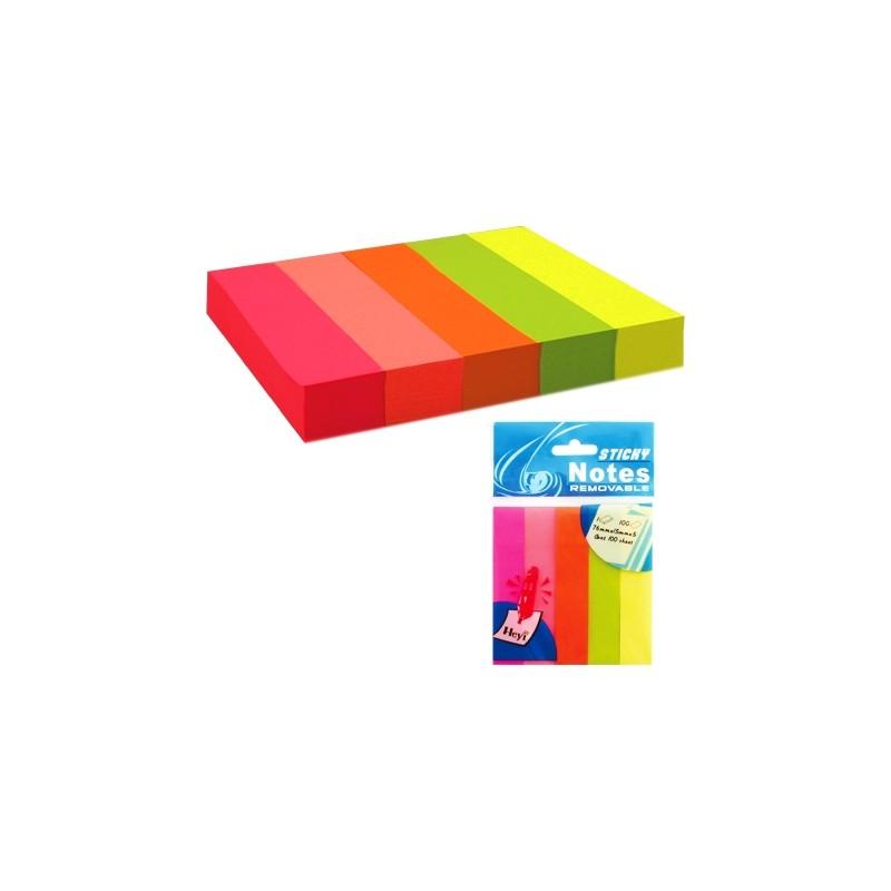 Blok lep. NEON záložka 5 x 15 x 75 mm