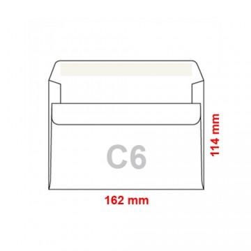 Obálky C6 114x162 mm samolepiace, 1000 ks