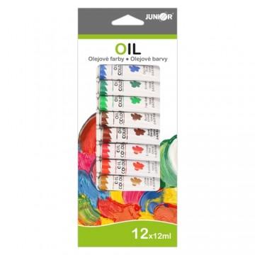 Farby olejové 12 ml - sada 12 ks