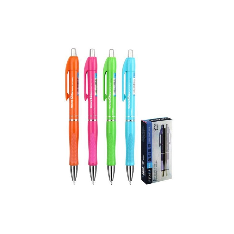 Pero guľôčkové SOLIDLY TB 204-A Neon 0,5 mm / mix farieb