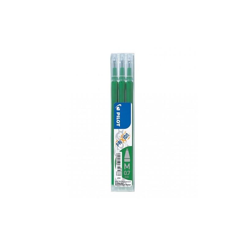 Náplň gumovacia PILOT Frixion 0,7 mm/3 ks - zelená