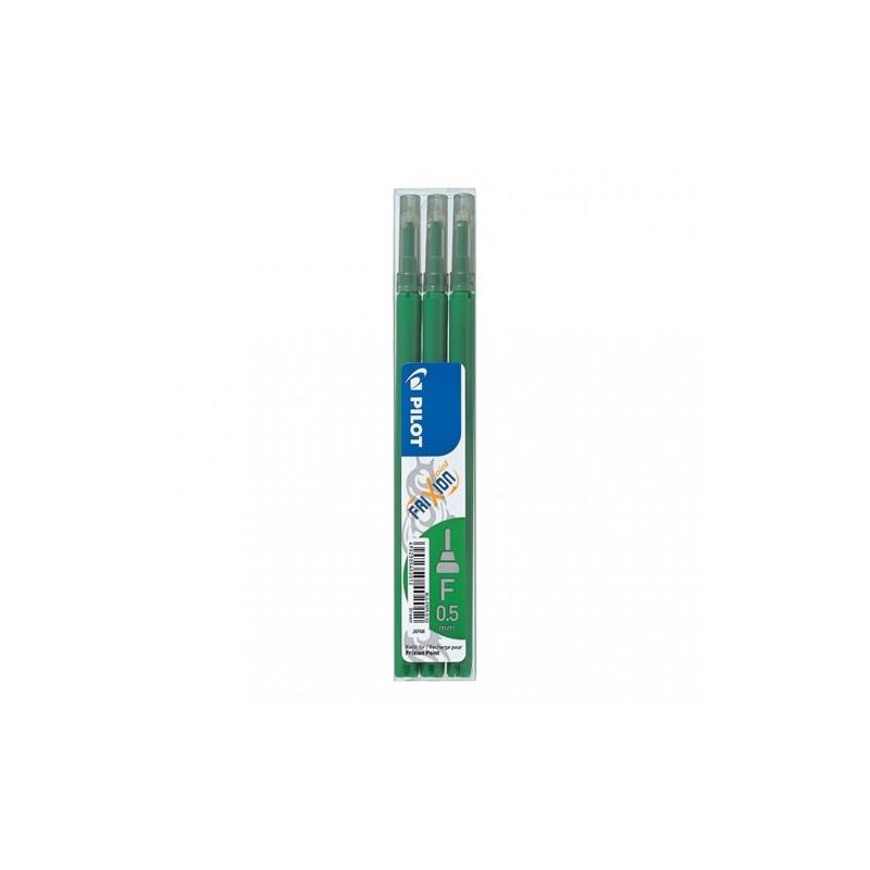 Náplň gumovacia PILOT Frixion 0,5 mm/3 ks - zelená