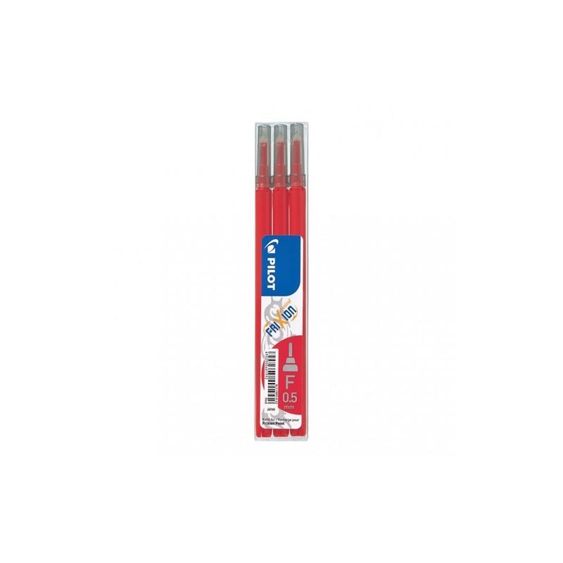 Náplň gumovacia PILOT Frixion 0,5 mm/3 ks Micro hrot - červená