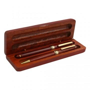 Súprava drevená guľ. pero+ keramické pero