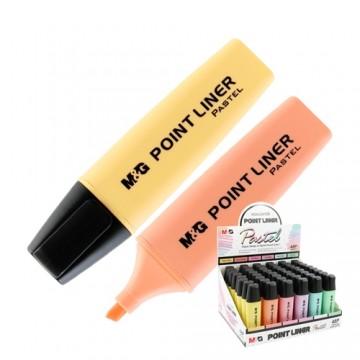 Zvýrazňovač M&G Pastel, mix farieb