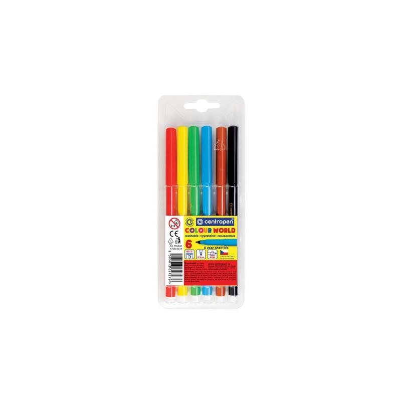 Fixy - CENTROPEN 7550 Colour World - sada 6 ks