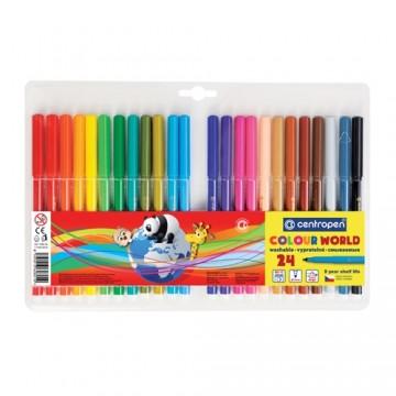 Fixy CENTROPEN 7550 Colour World - sada 24 ks