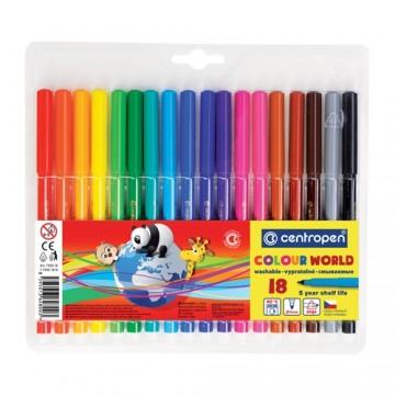 Fixy CENTROPEN 7550 Colour World - sada 18 ks