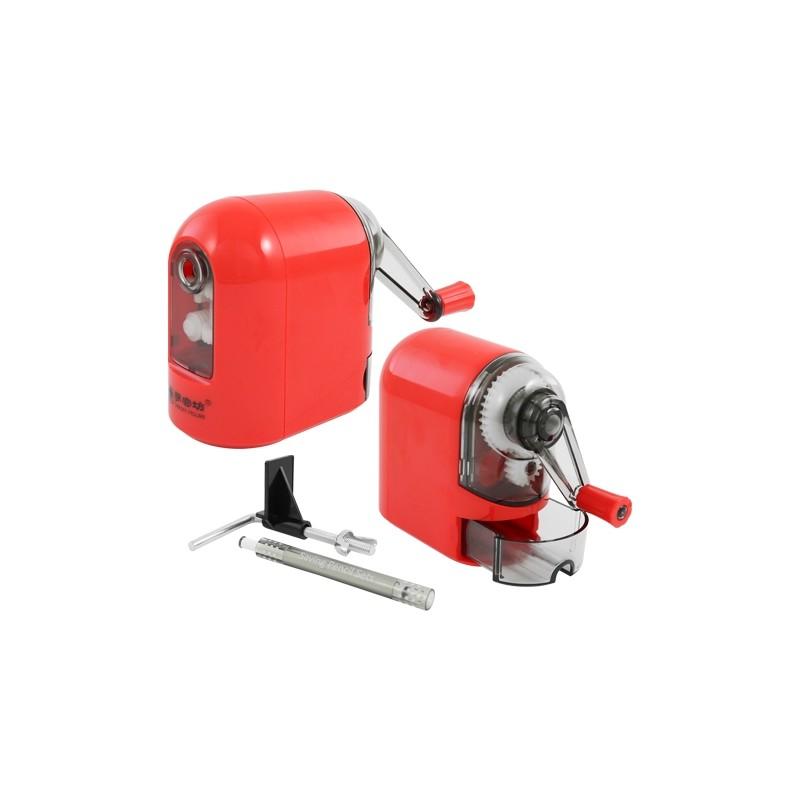Strúhadlo stolové - mechanické, červené