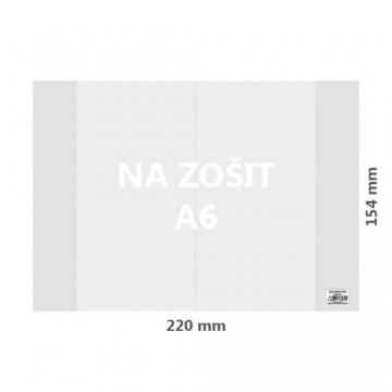 Obal na zošit A6 PVC hrubý transparentný 100 mic /1ks