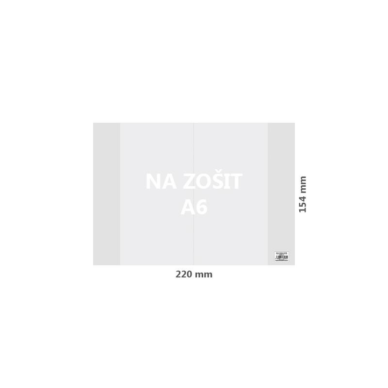 Obal na zošit A6 PP hrubý transparentný 110 mic /1ks