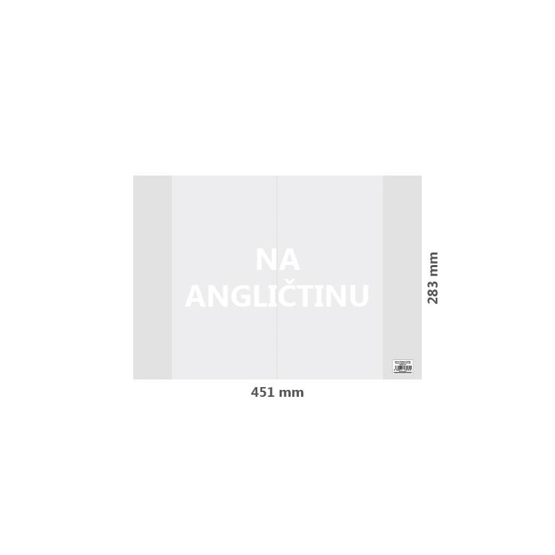 Obal na Angličtinu PVC 451x283 mm, hrubý/transparentný, 1 ks