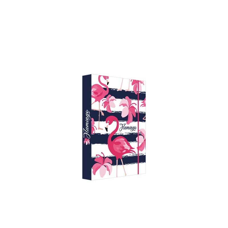 Box na zošity A5 Jumbo Flamingo