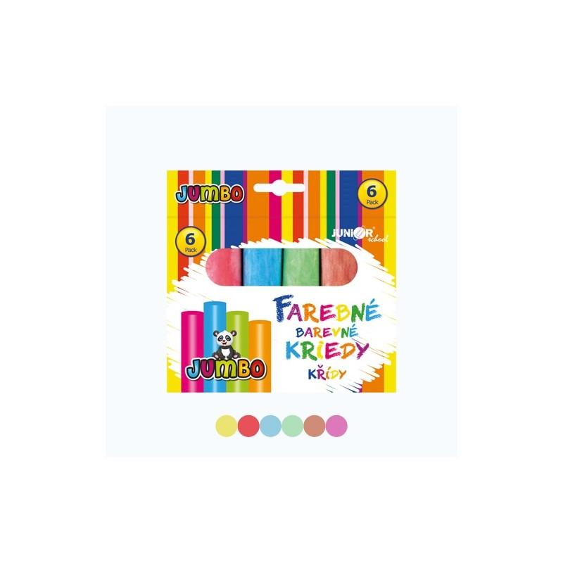 Kriedy farebné/chodníkové, okrúhle 6 ks