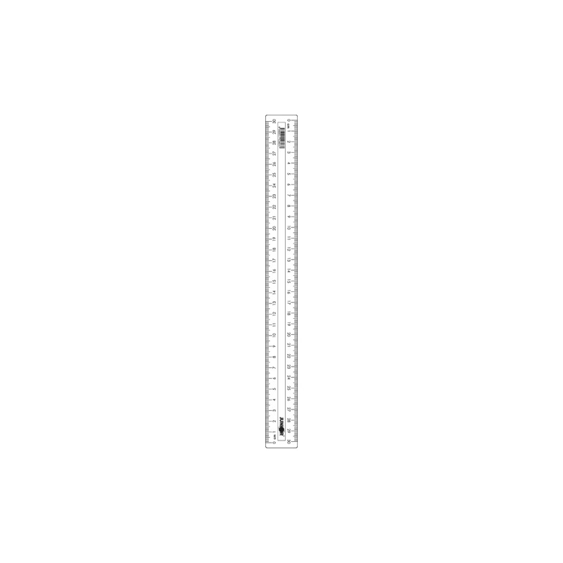 Pravítko 30 cm, transparentné