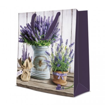 Darčeková taška PAW Lavender in Bucket, large - 26,5x33,5x13 cm