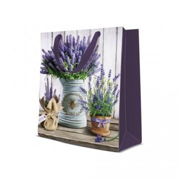 Darčeková taška PAW Lavender in Bucket, medium - 20x25x10 cm