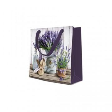 Darčeková taška PAW Lavender in Bucket, square - 17x17x6 cm