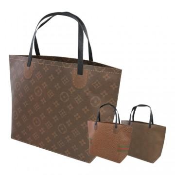 """Darčeková taška, brand """"L"""" (28x40,5x12 cm) - mix 3 dizajny"""