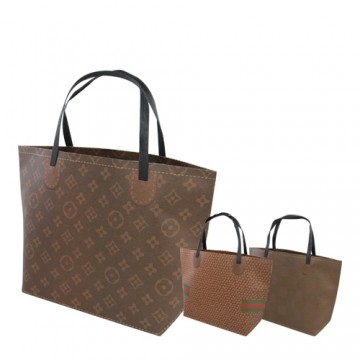 """Darčeková taška, brand """"M"""" (24x34,5x10 cm) - mix 3 dizajny"""