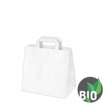 Papierové tašky 26x17x25 cm, biele 50 ks