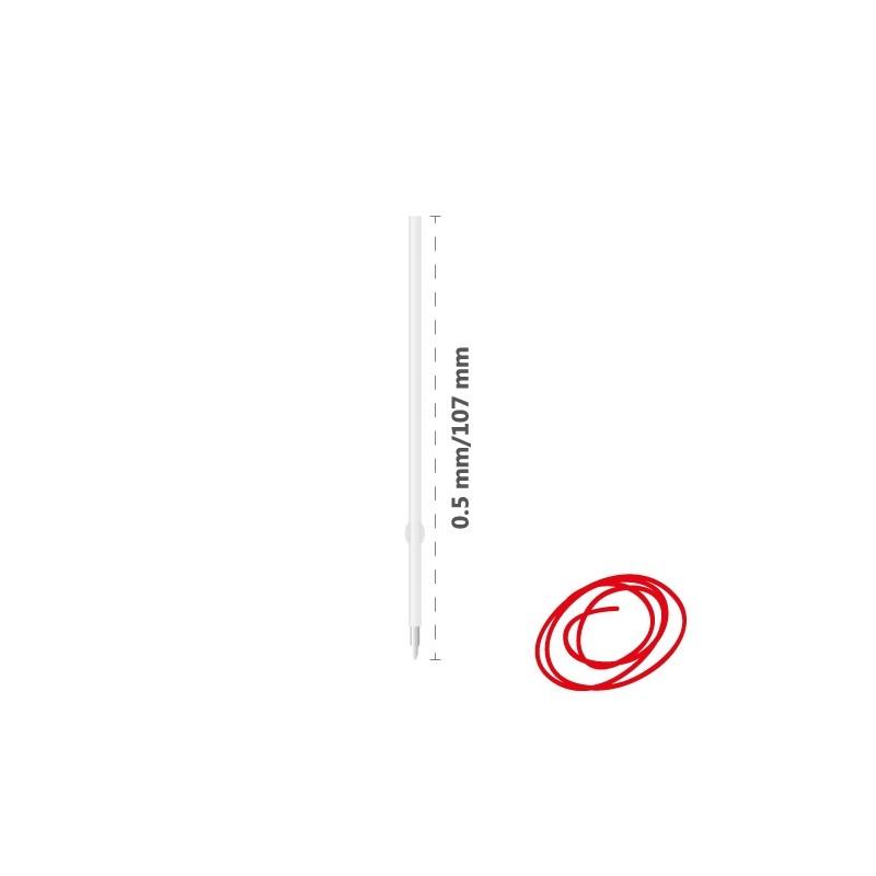 Náplň guľôčková X-10 Micro/Solidly 0,5 mm - červená