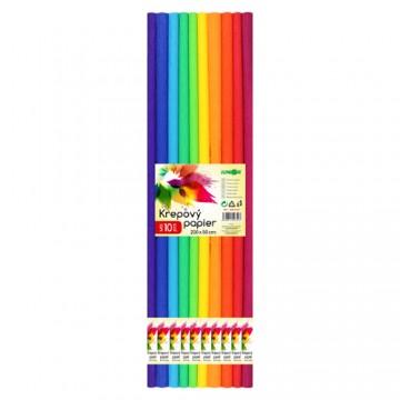Krepový papier JUNIOR - sada SPECTRUM 10 ks, 50x200 cm