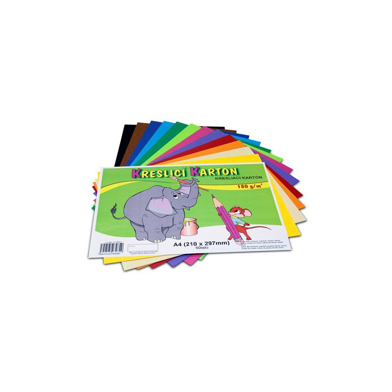 Výkres farebný A3 180 g (60 ks) mix 12 farieb