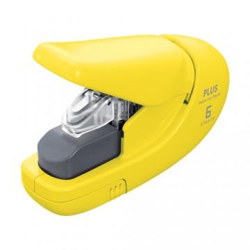 Zošívačka PLUS Paper Clinch mini SL-106AB (na 6 listov), žltá