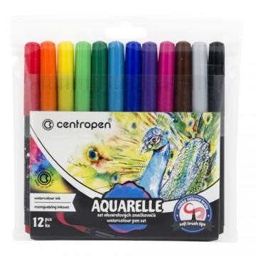 Fixy CENTROPEN 8683 Aquarelle - sada 12 ks