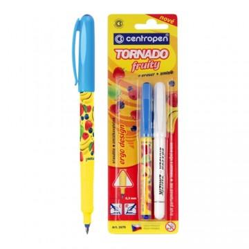 Pero guľôčkové CENTROPEN 2675/2 Tornado Fruity + zmizík
