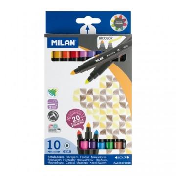 Fixy MILAN obojstranné 0,5 mm - sada 10 ks
